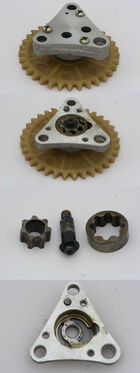 Gear type oil pump from 139QMB scooter engine