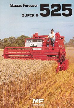 MF 525 Super II combine brochure - 1982