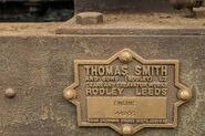 Another original Thomas Smith And Sons Limited nameplate on a Smith excavator