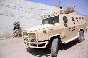 Dzik APC transports Iraqi army soldiers