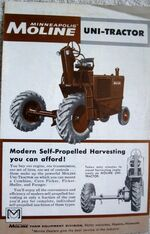 MM Uni-Tractor brochure - 1961