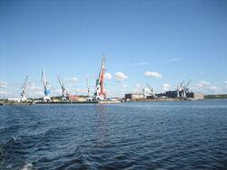 Rauma dockyard in summer