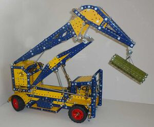 A Taylor Jumbo Mobilecrane made with Meccano