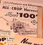 AC All-Crop Super 100 combine brochure b&w