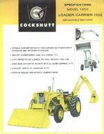 Cockshutt 1600 backhoe ad