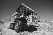 A 1970s Aveling Barford RD40 Mining Dumptruck