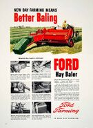 Ford square baler ad - 1956