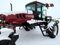 Westward M205 swather (MacDon) - 2012