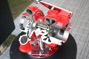 Turbocharger - sectioned - IMG 7746