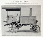 A 1906 Thornycroft Motor Tractor Steampowered