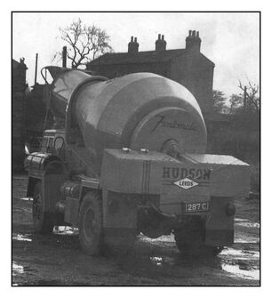 A 1960s Hudson Frontomatic Cement Mixer lorry