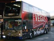 Deuce bus waiting to load passengers