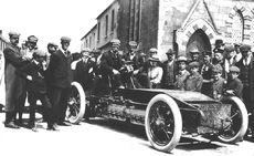 1903 Gordon Bennett Trophy. Athy, Ireland. Alexander Winton in the Winton Bullet 2