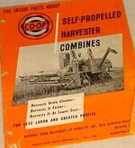 Co-op Harvester combine brochure - 1950