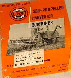 Co-op Harvester combine brochure - 1950