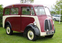 Morris J-Type van with side windows ca 1951 Battlesbridge