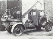 A 1930s COLES Morris Mobilecrane petrol