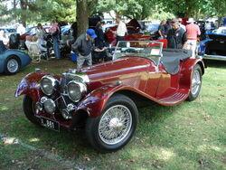 Jaguar SS100 in SA