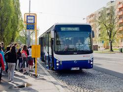 Ostrava, sady Boženy Němcové, Irisbus Ares
