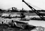 A 1960s Whitlock DD70 ADT Working in a mine