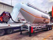Aluminum cement bulk trailers