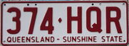 QLD standard rego plate