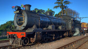Umgeni Steam Railway, locomotive 1486 Maureen, Kloof station 06-Jun-2010