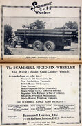 A 1930s Scammell Rigid Six Pipecarrier Petrol engined