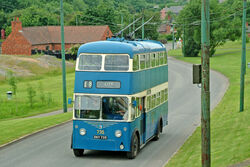 Bradford Trolleybus 735 at Black Country Living Museum - geograph.org.uk - 839238