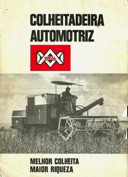 IDEAL CA-800 combine b&w brochure - 1970