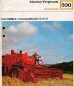 MF 500 combine brochure