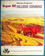 MF Super 92 Hillside combine brochure - 1961