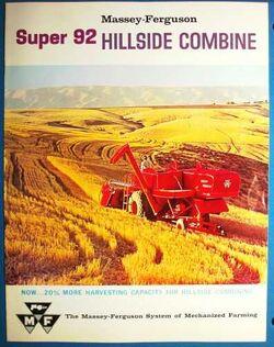 MF Super 92 Hillside combine brochure - 1961
