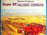 Massey Ferguson Super 92 Hillside combine