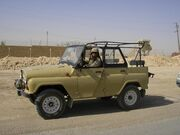 Russian-made vehicle UAZ-469 used by coalition in Iraq