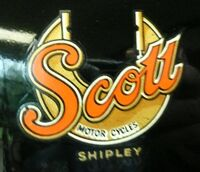 Scott motorcycle badge