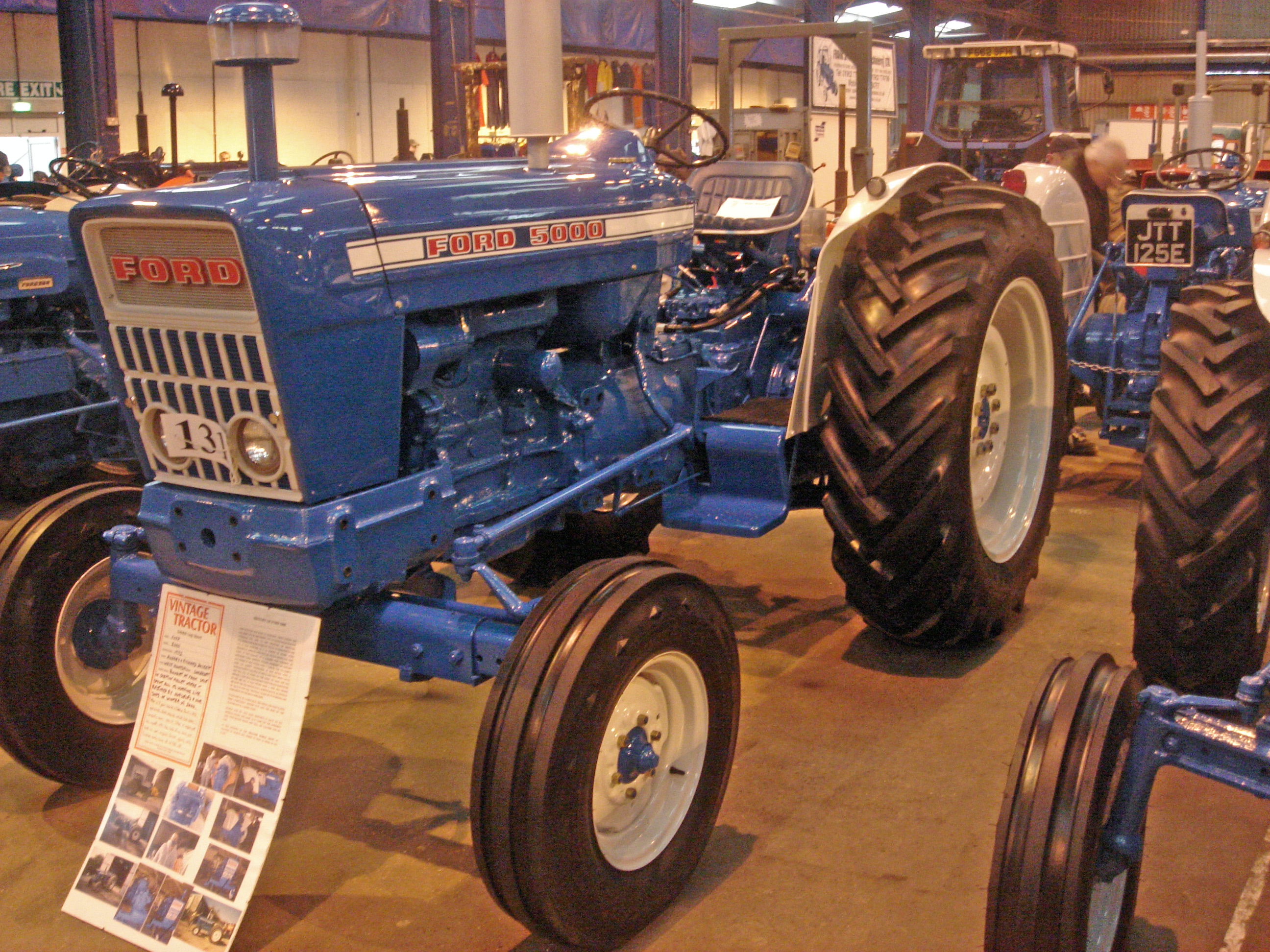 An immaculately restored Ford 5000 reg BAM 686L at the Bath and Southwest  Tractor show in 2009