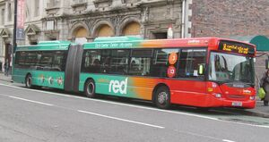 Cardiff Bus Capital Red