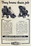 A 1940s LINER Builders Concrete Mixers