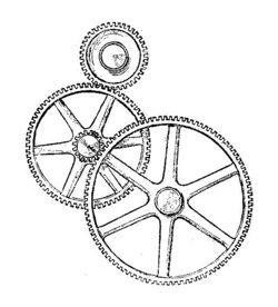 Transmission of motion by compund gear train (Army Service Corps Training, Mechanical Transport, 1911)