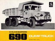 A 1960s Aveling Barford AB690 Dumptruck Diesel