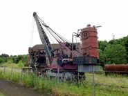 A 1914 Whitaker Brothes Railway Steamcrane Number 130 preserved today at Leeds