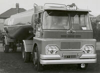 A 1960s GUY Invincible Fueltanker