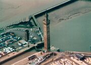 Grimsby Dock Tower (aerial view)