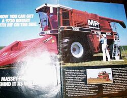 MF 9720 (White) combine ad - 1985