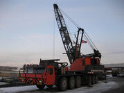 A 1980s Priestman Brothers Lion MOL Cranetruck