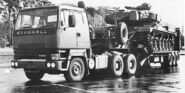 A 1980s Scammell S26 6X4 Military Tank Transporter