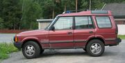 Land Rover Discovery SI maroon side
