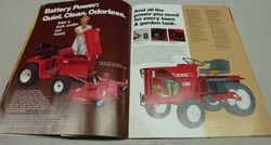 Wheel Horse C-185 Electric brochure - 1977