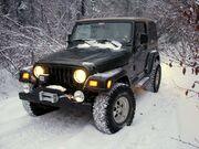 Jeep TJ in the snow